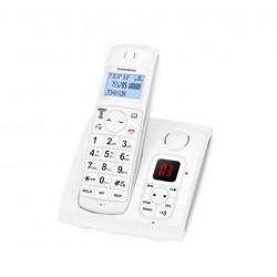 Thomson JASPE Duo - Téléphone sans fil - système de répondeur - DECT - blanc + combiné supplémentaire