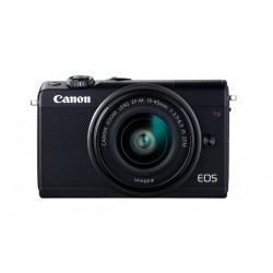 Canon EOS M100 - Appareil photo numérique - sans miroir - 24.2 MP - APS-C - 1080p / 60 pi/s - 3x zoom optique lentille EF-M 15-