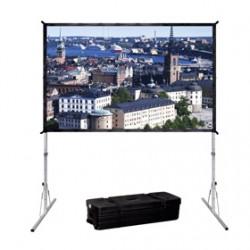 Projecta FastFold Deluxe Wide Format - Écran de projection avec pieds amovibles - 166 po (421 cm) - 16:10 - Matte White - Alumi