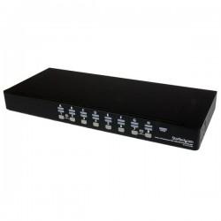 StarTech.com Kit de commutateur KVM USB à montage sur rack 1U 16 ports avec affichage à l'écran et câbles - Commutateur KVM -