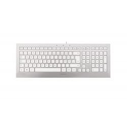 CHERRY STRAIT 3.0 - Clavier - USB - anglais - Etats-Unis - argent blanc