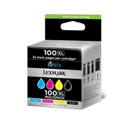 Lexmark Cartridge No. 100XL - Pack de 4 - à rendement élevé - noir, jaune, cyan, magenta - originale - cartouche d'encre LCCP,