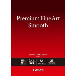 Canon Premium Fine Art Smooth FA-SM1 - Lisse - 16,5 millièmes de pouce - A4 (210 x 297 mm) - 310 g/m² - 25 feuille(s) papier ph