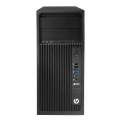 HP Workstation Z240 - MT - 1 x Core i7 7700 / 3.6 GHz - RAM 16 Go - SSD 256 Go - HP Z Turbo Drive G2, NVMe, TLC, HDD 1 To - Qua