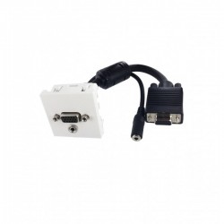 Plastron 45x45 VGA+Jack 3,5mm FF-0,2m