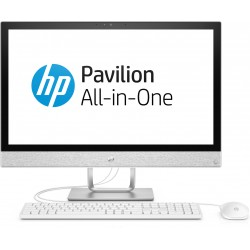 HP Pavilion 24-r032nf - Tout-en-un - 1 x Core i3 7100T / 3.4 GHz - RAM 4 Go - HDD 1 To - graveur de DVD - HD Graphics 630 - Gig