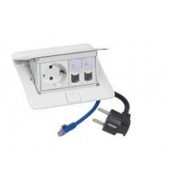 C2G Pop-Up - Coupe-circuit - CA 230 V - 3680 Watt - entrée : bipolaire - connecteurs de sortie : 1 (bipolaire) - 2 m - Allemagn