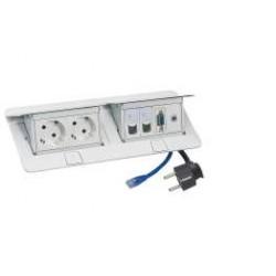 C2G Pop-Up - Coupe-circuit - CA 230 V - 3680 Watt - entrée : bipolaire - connecteurs de sortie : 2 (bipolaire) - 2 m - Allemagn