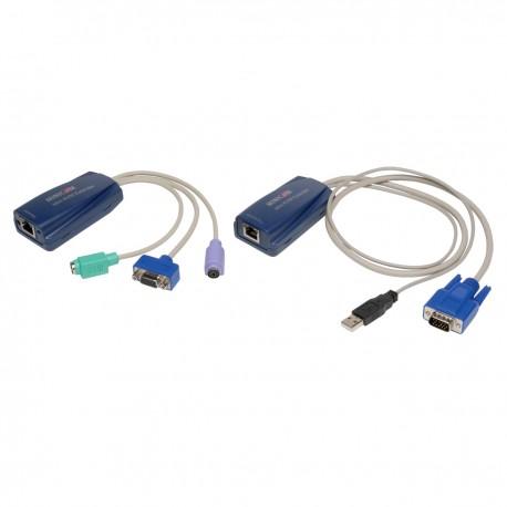 Repeteur KVM PS2 vers USB jusqu'à 70m sur Ethernet Cat5