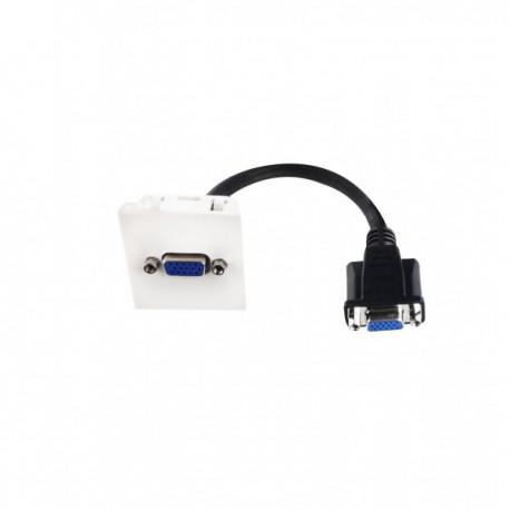 Plastron 45x45 VGA HD15 FF - 0.2m