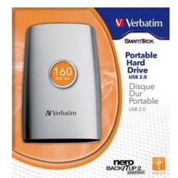 160GB USB 2.0. HDD Disque dur Externe 8Mb buffer. 5400tr/min.Autoalimenté. Inclus cables et Logiciel NERO de backup.