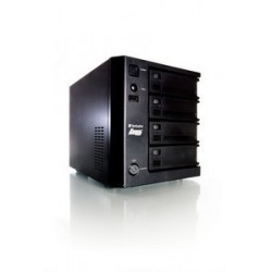 Verbatim PowerBay DataBank - Serveur NAS - 4 Baies - 8 To - SATA 3Gb/s - HDD 2 To x 4 - RAID 0, 1, 5, 6, disque de réserve 5 -