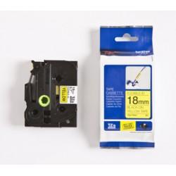Brother TZeFX641 - Noir sur jaune - rouleau (1,8 cm x 8 m) 1 rouleau(x) ruban flexible - pour P-Touch PT-3600, D400, D450, D600