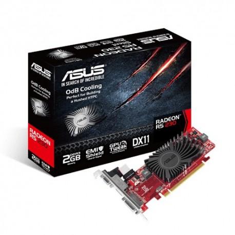 ASUS R5230-SL-2GD3-L - Carte graphique - Radeon R5 230 - 2 Go DDR3 - PCIe 2.1 x16 - DVI, D-Sub, HDMI - san ventilateur