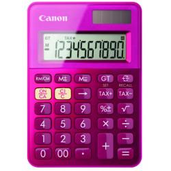 Canon LS-100K - Calculatrice de bureau - 10 chiffres - panneau solaire, pile - rose métallique