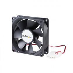 StarTech.com Ventilateur PC à Double Roulement à Billes - Alimentation LP4 - 80 mm - 1x LP4 Femelle - 1x LP4 Mâle - Kit de vent
