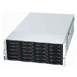 Supermicro SC847 E2C-R1K28JBOD - Rack-montable - 4U - SATA/SAS - hot-swap 1280 Watt - noir