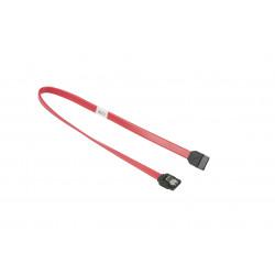 Supermicro - Câble SATA - SATA pour SATA - 35 cm - verrouillé, plat, connecteur droite - pour SuperServer 6016, 6016GT