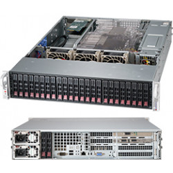 Supermicro SC216 BE2C-R920WB - Rack-montable - 2U - Extended ATX améliorée - SATA/SAS - hot-swap 920 Watt - noir