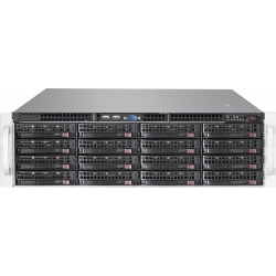 Supermicro SC836 BE2C-R1K03JBOD - Rack-montable - 3U - SATA/SAS - hot-swap 1000 Watt - noir