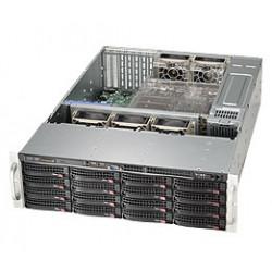 Supermicro SC836 BE1C-R1K23B - Montable sur rack - 3U - Extended ATX améliorée - SATA/SAS - hot-swap 1200 Watt - noir