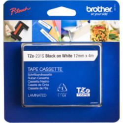 Brother TZe231S2 - Noir sur blanc - Rouleau (1,2 cm x 4 m) 1 rouleau(x) ruban laminé - pour P-Touch PT-1880, D200, D450, E110,