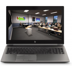 HP ZBook 15 G6 Mobile Workstation - Core i7 9750H / 2.6 GHz - Win 10 Pro 64 bits - 16 Go RAM - 512 Go SSD (16 Go cache SSD) NVM