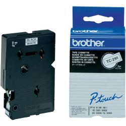 Brother - Noir, blanc - Rouleau (0,9 cm) 1 rouleau(x) ruban laminé - pour P-Touch PT-15, PT-20, PT-2000, PT-3000, PT-500, PT-50