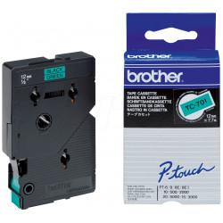 Brother - Noir, vert - Rouleau (1,2 cm) 1 rouleau(x) étiquettes
