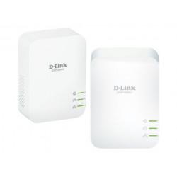 D-Link PowerLine AV2 1000 HD Gigabit Passthrough Kit DHP-P601AV - Pont - GigE, HomePlug AV (HPAV) 2.0, IEEE 1901 - Branchement