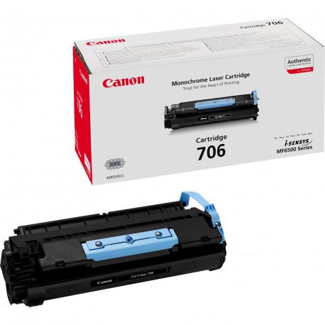 Canon 706 - Noir - originale - cartouche de toner - pour i-SENSYS MF6530, MF6540, MF6550, MF6560, MF6580, LaserBase MF6530, MF6