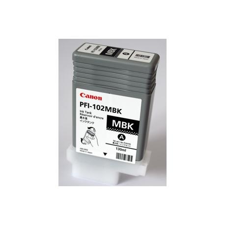 Canon LUCIA PFI-102 MBK - 130 ml - noir mat - originale - réservoir d'encre - pour imagePROGRAF iPF510, iPF610, iPF650, iPF655