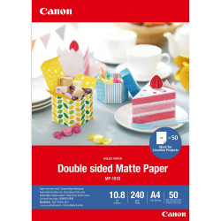 Canon Double-sided Matte Paper MP-101D - Mat - 275 microns - A4 (210 x 297 mm) - 240 g/m² - 50 feuille(s) papier