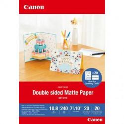Canon MP-101D - Mat double - 10,8 millièmes de pouce - 177.8 x 254 mm - 240 g/m² - 20 feuille(s) papier photo