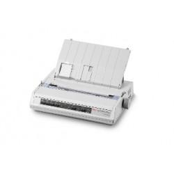 OKI ML280eco - Imprimante - monochrome - matricielle - 241,3 mm (largeur) - 240 x 216 dpi - 9 pin - jusqu'à 375 car/sec - séri