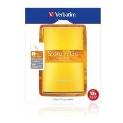 Verbatim Store 'n' Go Portable - Disque dur - 1 To - externe - USB 3.0 - Jaune ensoleillé
