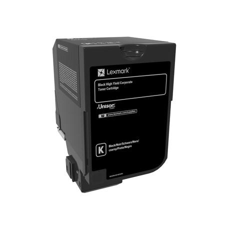 Lexmark - À rendement élevé - noir - originale - cartouche de toner LCCP, LRP, Entreprise Lexmark - pour Lexmark CS720de, CS720