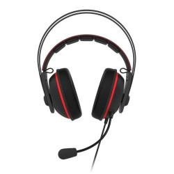 ASUS TUF Gaming H7 - Micro-casque - circum-aural - filaire - USB, jack 3,5mm - rouge