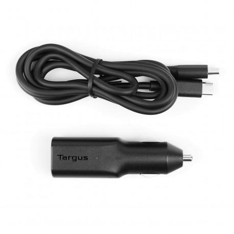 Targus Car Charger - Adaptateur d'alimentation pour voiture - 45 Watt (USB-C) - sur le câble : USB-C - noir - Europe