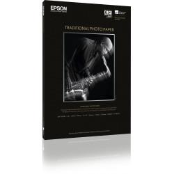 Epson Traditional Photo Paper - A2 (420 x 594 mm) - 330 g/m² - 25 feuille(s) papier photo - pour Stylus Pro 4900 Spectro_M1, Su