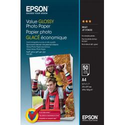 Epson Value - Brillant - A4 (210 x 297 mm) - 183 g/m² - 50 feuille(s) papier photo - pour Epson L382, L386, L486, Expression Ho