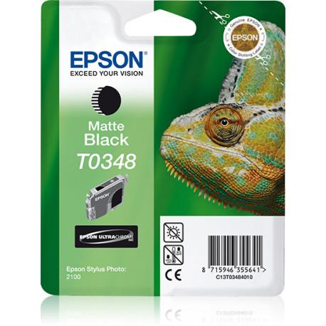 Epson T0348 - 17 ml - noir mat - original - blister - cartouche d'encre - pour Stylus Photo 2100