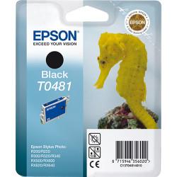 Epson T0481 - 13 ml - noir - originale - blister - cartouche d'encre - pour Stylus DX3800, Stylus Photo R200, R220, R300, R320