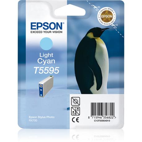 Epson T5595 - Cyan clair - original - blister - cartouche d'encre - pour Stylus Photo RX700