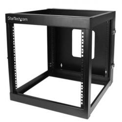 StarTech.com 12U Hinged Open Frame Wall Mount Server Rack - 4 Post 22 in. Depth Network Equipment Rack Cabinet - 140 lbs capaci