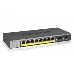 NETGEAR Pro GS110TPv3 - Commutateur - intelligent - 8 x 10/100/1000 (PoE) + 2 x SFP - Ordinateur de bureau, fixation murale - P