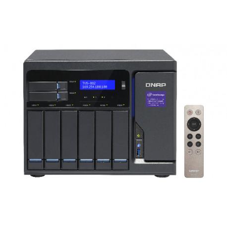 QNAP TVS-882 - Serveur NAS - 6 Baies - SATA 6Gb/s - RAID 0, 1, 5, 6, 10, JBOD - RAM 16 Go - Gigabit Ethernet - iSCSI