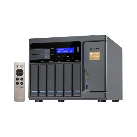 QNAP TVS-882T - Serveur NAS - 8 Baies - SATA 6Gb/s - RAID 0, 1, 5, 6, 10, JBOD - RAM 16 Go - 10 Gigabit Ethernet - iSCSI