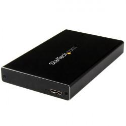 """StarTech.com 2.5"""" IDE Hard Drive Enclosure - Supports UASP - Aluminum - IDE and SATA - USB 3.0 HDD Enclosure - External Drive"""