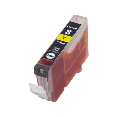 Canon CLI-8Y - 13 ml - jaune - originale - réservoir d'encre - pour PIXMA iP3500, iP4500, iP5300, MP510, MP520, MP610, MP960,